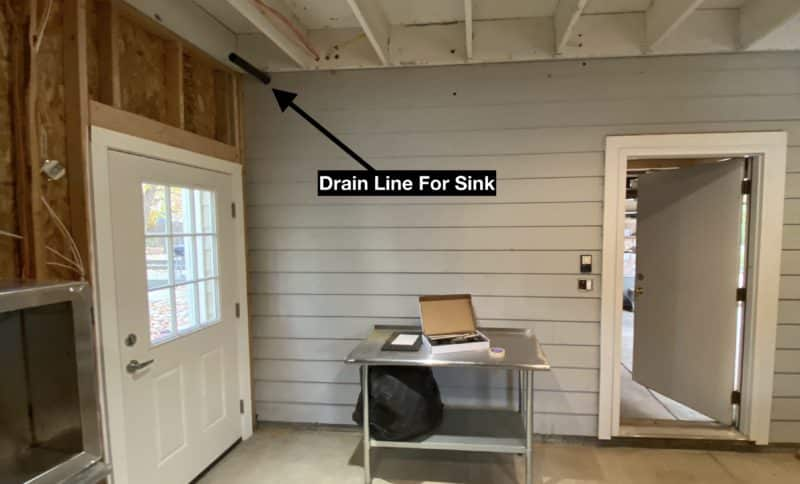 Drain Line for Sink in Brewery