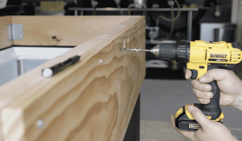 Drilling Pilot Holes for Faucet Shanks
