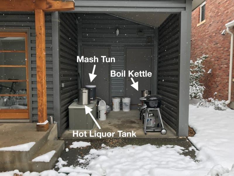 First Colorado Homebrewing Setup Snow