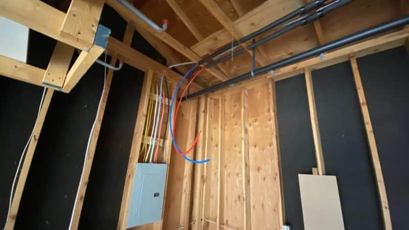 Plumbing and Electric in Main Garage