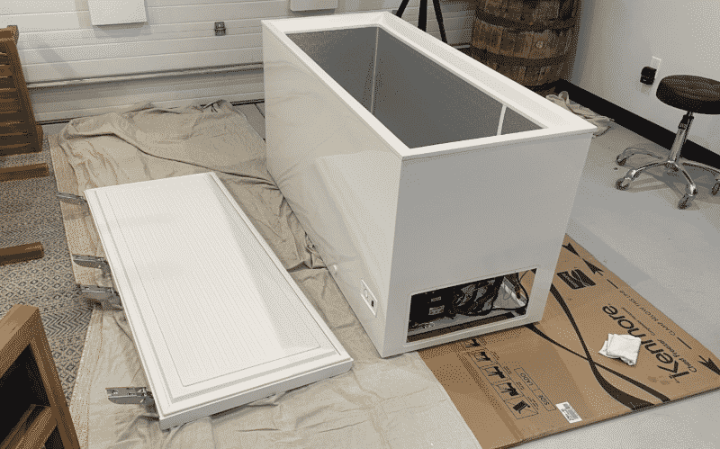 Remove Lid and Plastic Parts of Chest Freezer