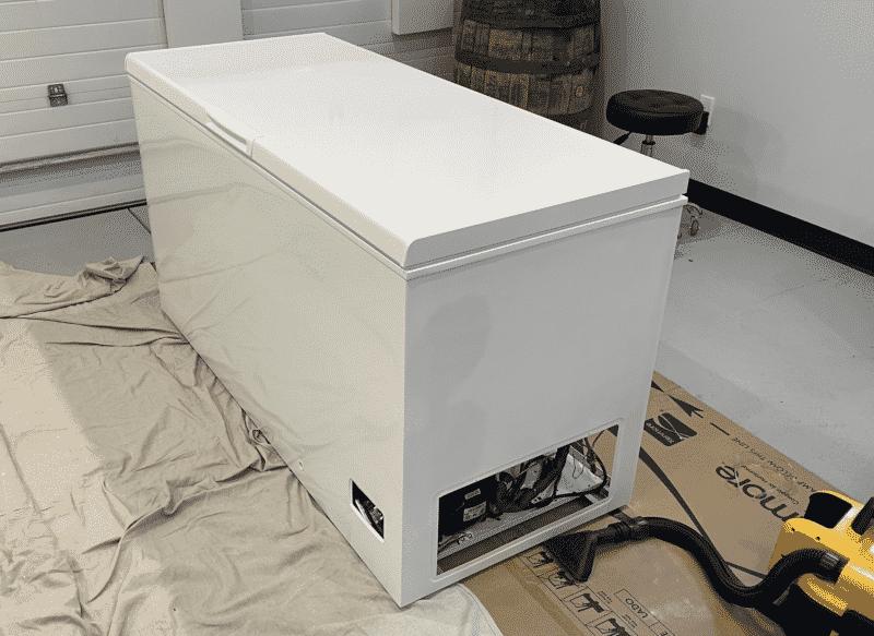Sanded Chest Freezer